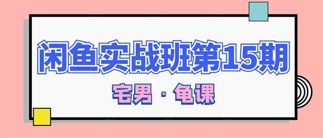 龟课·闲鱼无货源电商课程第15期,一个月收益几万不等【33节视频-无水印】